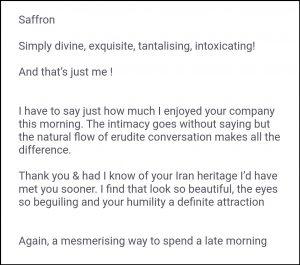 Iranian escort London